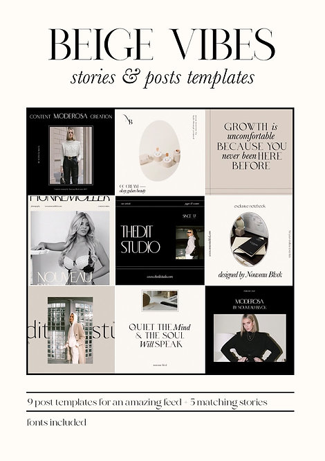 BEIGE VIBES - POST & STORY TEMPLATES