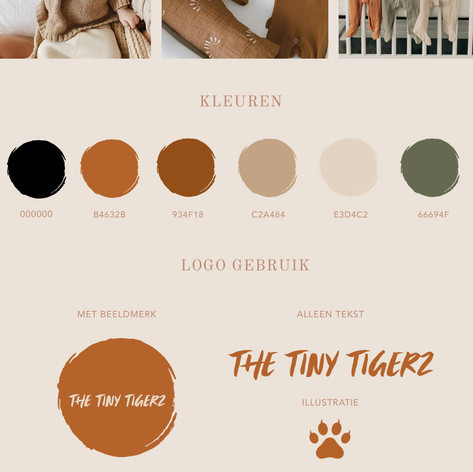 THE TINY TIGERZ HUISSTIJL