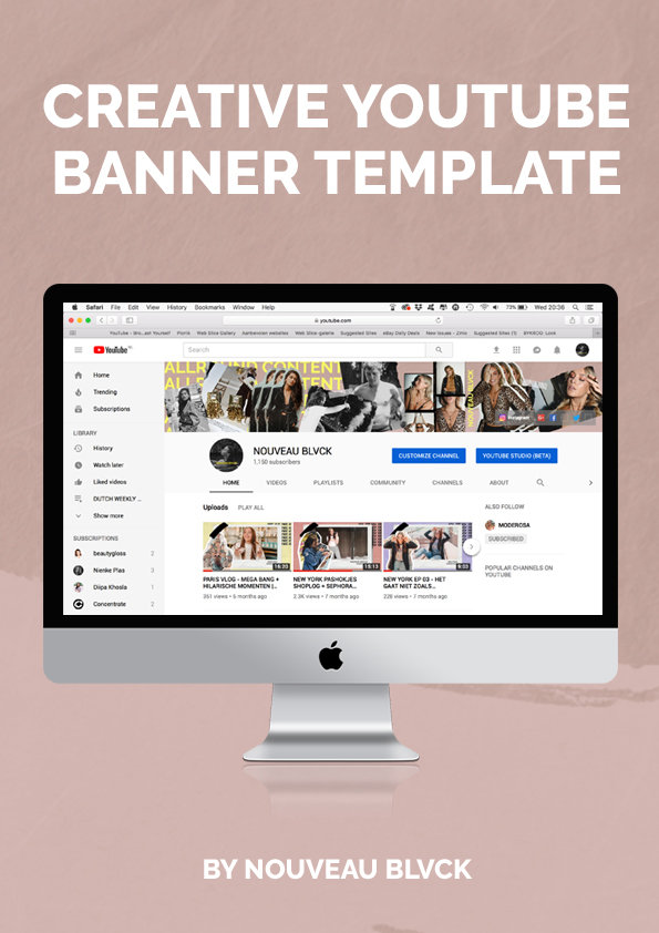 Creative Youtube Banner Template