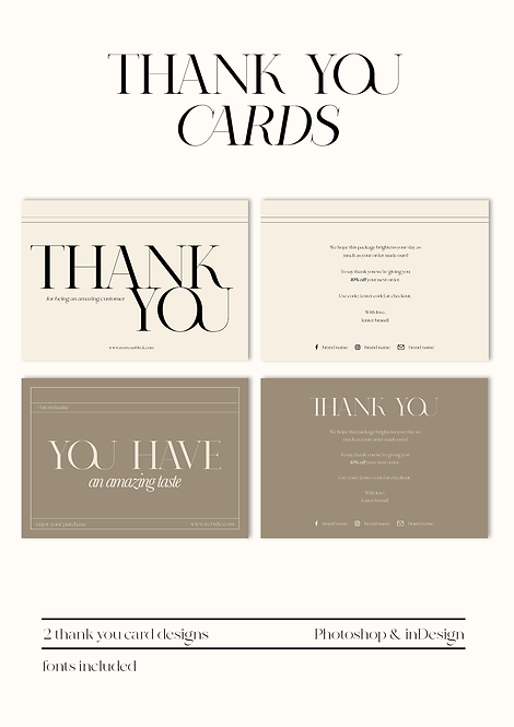 THANK YOU CARDS PACKAGE