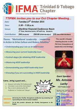 TTIFMA Chapter Meeting Oct. 2015