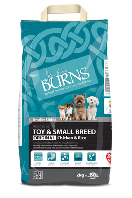 Burns toy and small breed 2kg