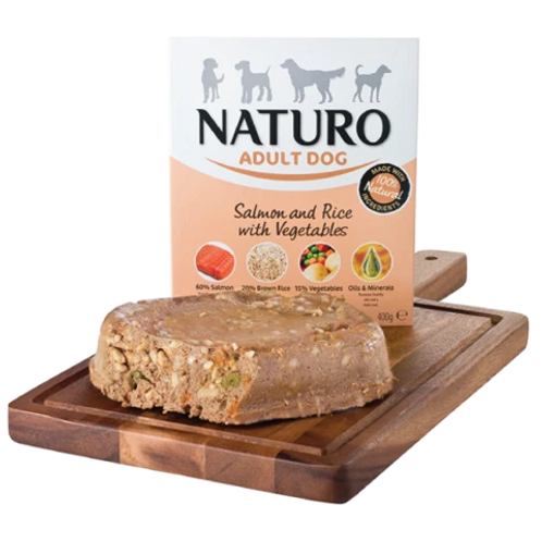 Naturo Adult Dog - Salmon & Rice with vegetables 400g