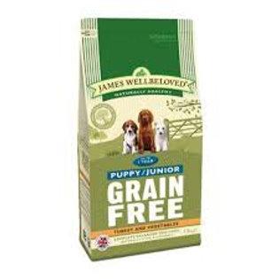 James wellbeloved grain free puppy turkey 1.5kg
