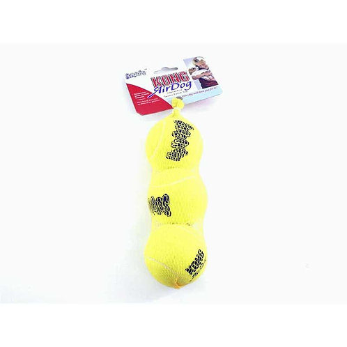 Kong squeaky tennis ball med 3pk