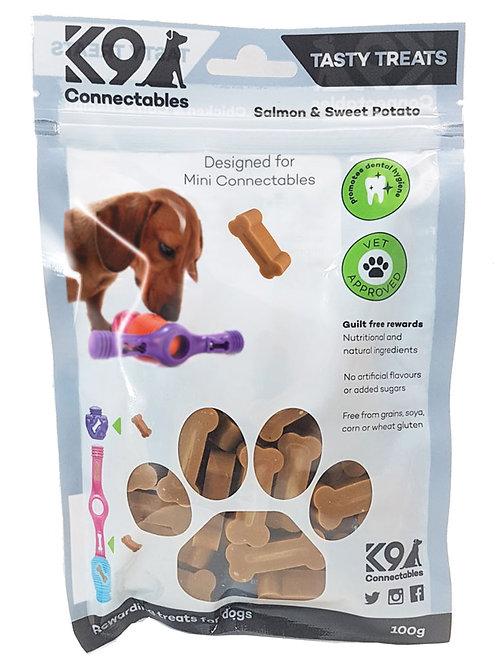 k9 connectable mini treats - salmon and sweet potato