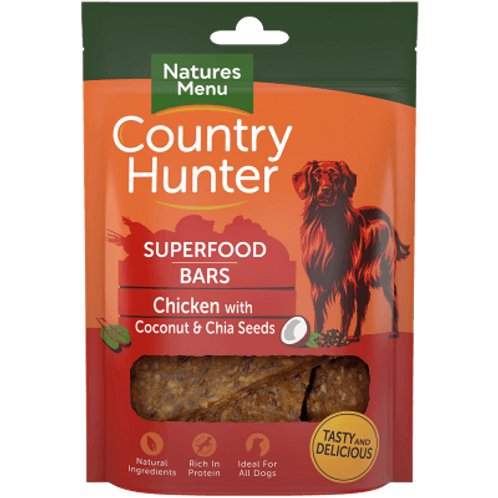 country hunter treats - chicken and cocnut with chia seeds