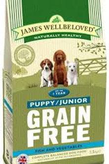 James Wellbeloved grain free puppy fish 1.5kg