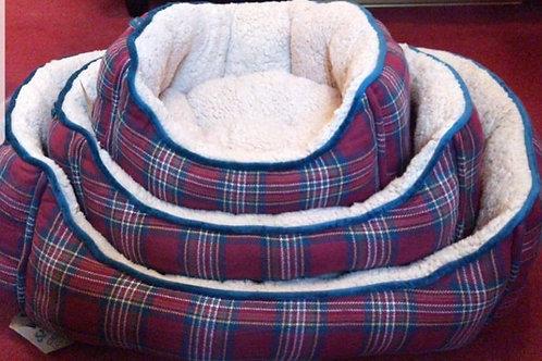Woof and Purr tartan beds