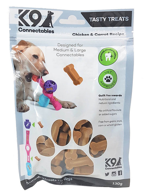 k9 connectable m/l treats - chicken and carrot