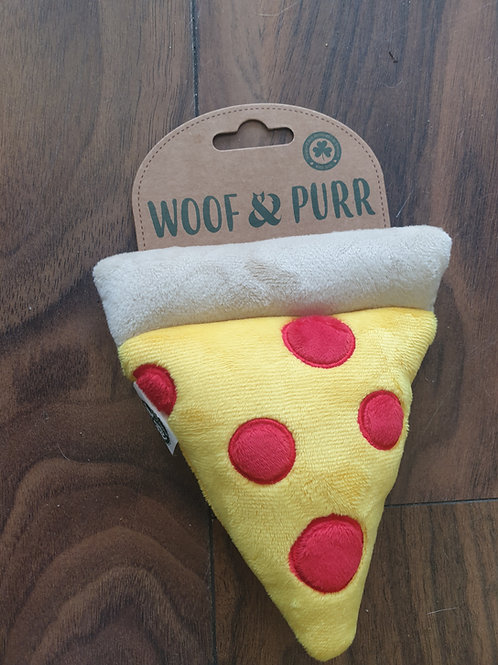 Woof and purr squeaky pizzq