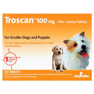Troscan dog wormer for puppies and small dogs up to 10kg