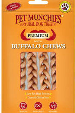 Pet munchies Buffalo Chews small 4pk