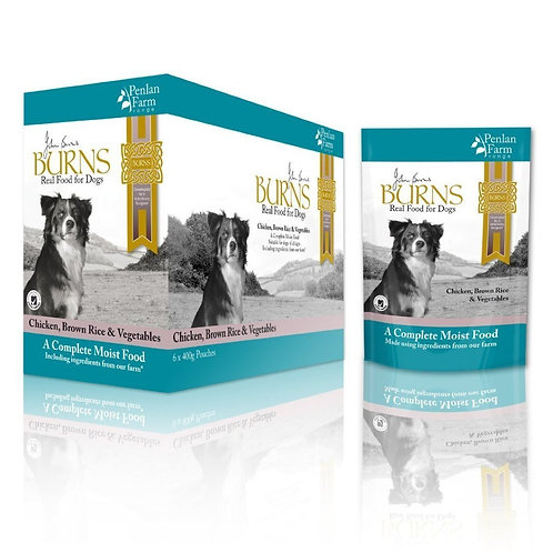 Burns wet food pouches 12 pack 150g