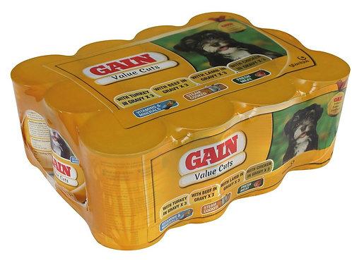 Gain value tins wet dog food