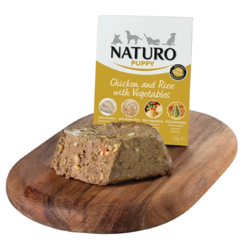 Naturo Puppy Chicken & Rice with vegetables 150gr