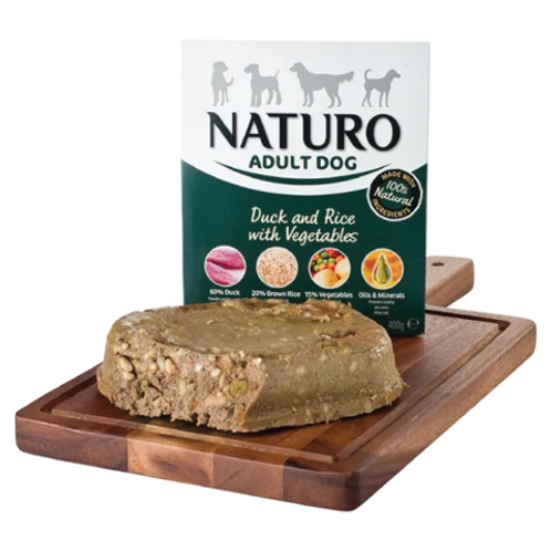 Naturo Adult Dog - Duck & Rice with vegetables 400gr