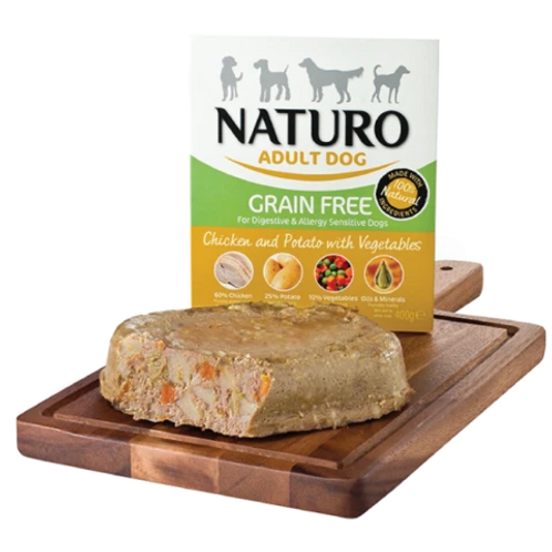 Naturo Adult Dog - Grain Free Chicken & Potato with vegetables 400gr