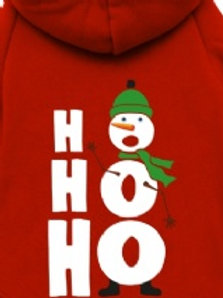 HO HO HO christmas dog hoodie