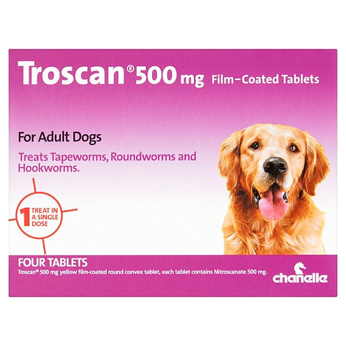 Troscan wormer for adult dogs 10kg and above