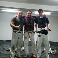 Ron, Justin, and I put in some open mat