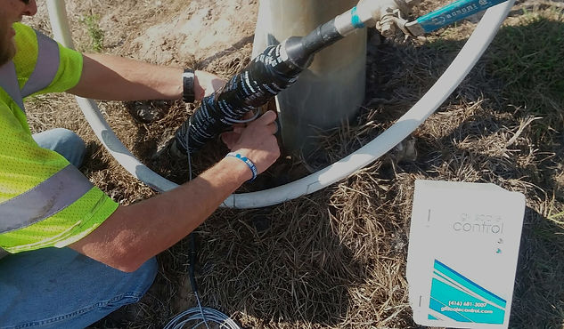 LFG leachate scale control pump protector install