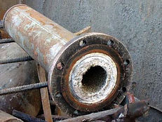 scaled pipe