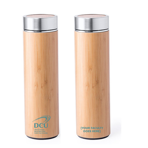 DCU Faculty Branded Bamboo Bottle Min Qty 50pcs