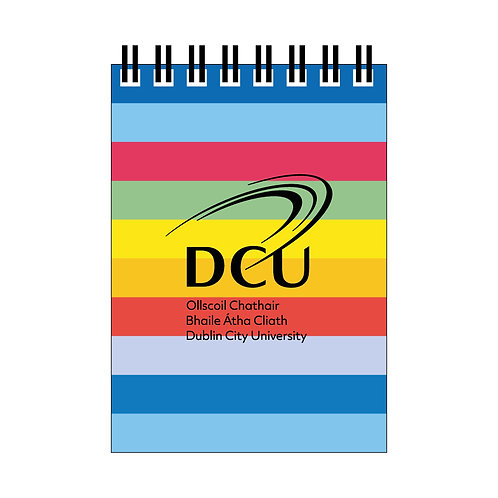 DCU Rainbow Spiral Notebook