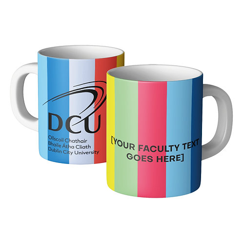 DCU Faculty Rainbow Mug Min Qty 72pcs