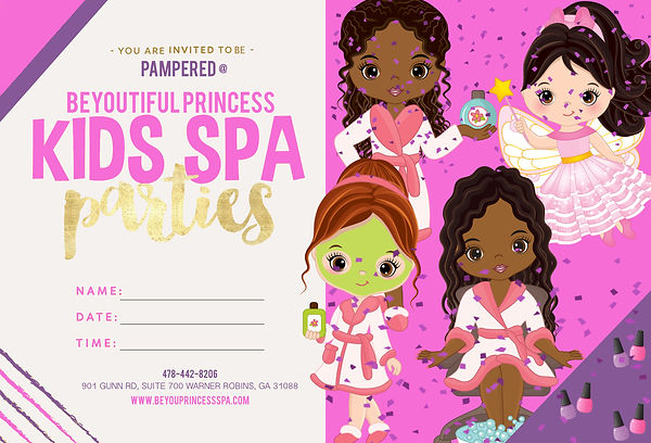 BeYOUtiful Princess Kids Spa Free Invitation