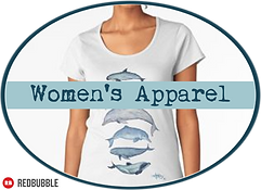 Amber Marine Art © Apparel Women's Button.png