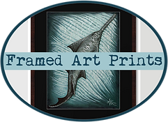 amber marine, painting, artist, wall art, marine life, ocean art, sawfish, endangered species,