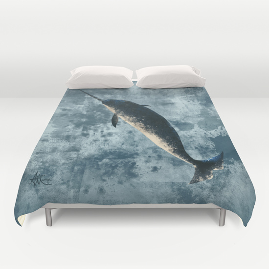 """Jackson the Narwhal"" Duvet Cover"