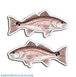 2x Redfish Vinyl Stickers