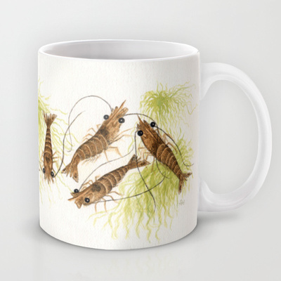 Shrimp Watercolor Mug