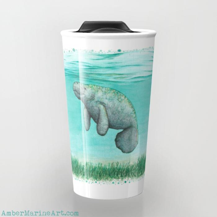 Mossy Manatee Travel Mug