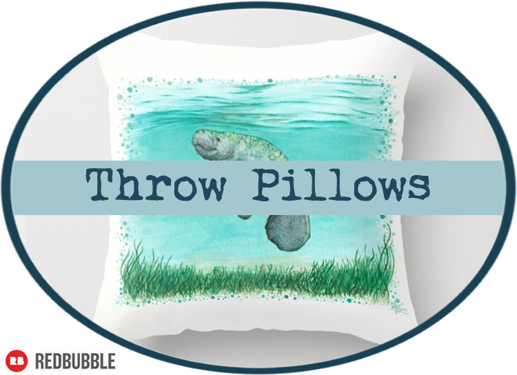 Throw Pillows by Amber Marine