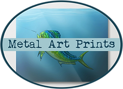 amber marine, painting, artist, wall art, marine life, ocean art, dolphin, fish, mahi mahi, dorado, fishing