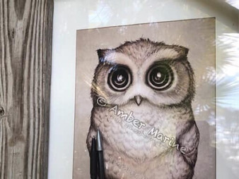 "Superb Owl Sunday! Throwback art: ""the Little Owl."""
