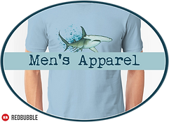 Amber Marine Art © Apparel Men's Button.png