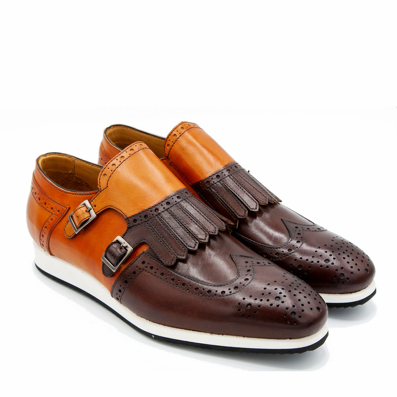 BROGUE DOUBLE  FRINGE MONK