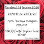 VENTE PRIVÉE LOVE