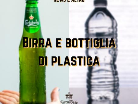 Birra e bottiglia di plastica