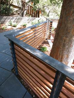 exterior wood slat railing