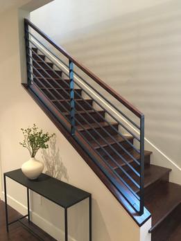 Hot rolled flat bar railing