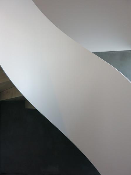 Curved plate steel Railing