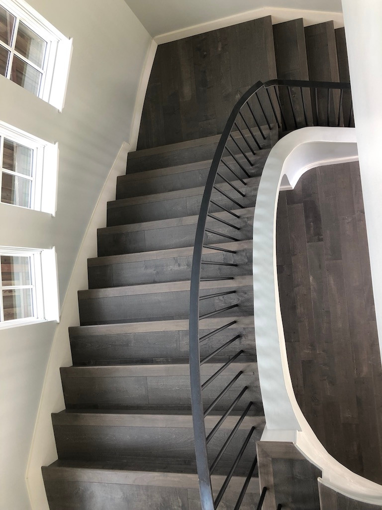 curved stair rail