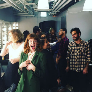 Backstage at Joe's Pub with Shaina & the Gang