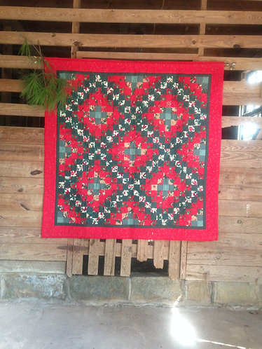 Crossroads To Christmas Quilted Wall Hanging